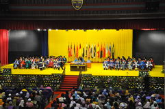 University Malaya Graduation Day. This Image is about a graduation day at University Malaya, the greatest university in Malaysia. This is a handover scroll Stock Images