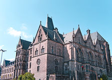 University of Marburg. Front view of the old university in Marburg, Germany Royalty Free Stock Photography