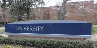 University Marquee. A generic blue marquee with University on it Stock Images