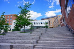 University of Massachusetts Amherst. Campus building royalty free stock photo