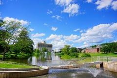 University of Massachusetts Amherst. Campus building stock photo
