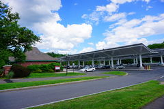 University of Massachusetts Amherst. Campus landscape royalty free stock photo