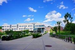 University of Massachusetts Amherst campus. Landscape stock photography