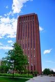 University of Massachusetts Amherst library. University of Massachusetts Amherst campus landscape royalty free stock photo