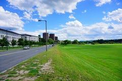 University of Massachusetts Amherst. Soccer field stock photography