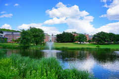 University of Massachusetts Amherst. Campus building royalty free stock image