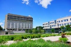 University of Massachusetts Amherst. Campus building stock image
