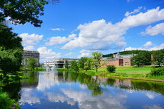 University of Massachusetts Amherst. Campus landscape royalty free stock photos