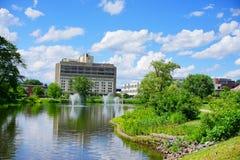 University of Massachusetts Amherst. Campus landscape stock photos