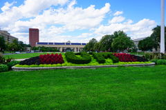 University of Massachusetts Amherst. Entrance stock images