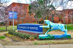 University of Memphis Entrance Sign. Marker entrance sign at the University of Memphis in Memphis, Tennessee Stock Photography