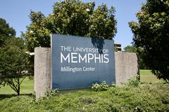 The University of Memphis at Millington. The Main campus of the University of Memphis in Millington Tennessee Royalty Free Stock Images