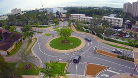 University of Miami. Aerial footage of the University of Miami stock footage