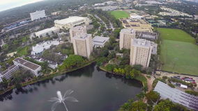 University of Miami. Aerial footage of the University of Miami stock video footage