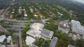 University of Miami. Aerial footage of the University of Miami and Coral Gables Florida stock video