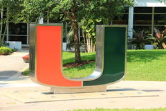 University of Miami. The University of Miami (informally referred to as UM, U Miami, Miami, or The U) is a private, nonsectarian university located in Coral stock image