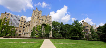 University of Michigan. Panoramic view of University of Michigan law campus Royalty Free Stock Photos