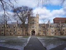 University of Michigan Campus. Winter scenery of University of Michigan campus Royalty Free Stock Image