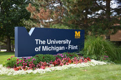University of Michigan Flint sign Royalty Free Stock Photos