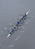 University of Michigan Rowing Team from Above Stock Photos