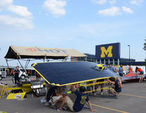 University of Michigan solar car team Stock Photos
