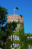 University of Michigan Union tower. With M flag Royalty Free Stock Images