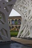University of Milan courtyard stock image