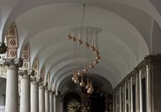 University of Milan indoor corridor Stock Images