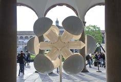 University of Milan indoor corridor during the Milan Design Week Royalty Free Stock Photos
