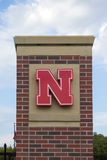 University of Nebraska Logo on Brick Royalty Free Stock Image