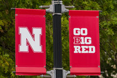 University of Nebraska Logo and Flag Stock Photography