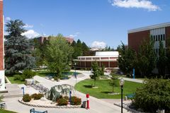 University Of Nevada Campus. View of the University of Nevada campus in Reno, NV Royalty Free Stock Photos
