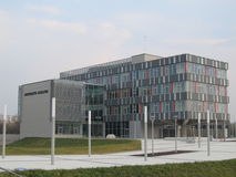 University. The new building not finished, Charles University in Hradec Kralove, Czech Republic stock photos