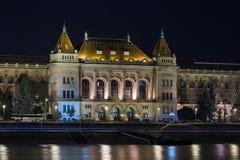 University at night in Budapest Stock Photo