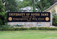 University of Notre Dame Royalty Free Stock Image