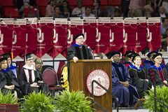 University of Oklahoma Lloyd Noble Center, Commencement Royalty Free Stock Photos