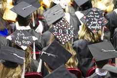 University of Oklahoma Lloyd Noble Center, Commencement Royalty Free Stock Images