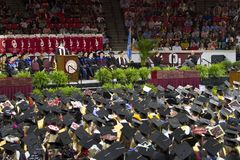 University of Oklahoma Lloyd Noble Center, Commencement Stock Images