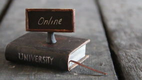 University online courses stock video footage
