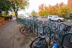 University of Oregon Bikes Royalty Free Stock Image