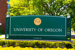 University of Oregon Campus Entrance Sign Royalty Free Stock Images
