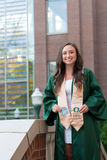 University of Oregon Female College Grad Royalty Free Stock Photography