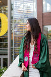 University of Oregon Female College Grad Royalty Free Stock Images