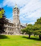 University of Otago. Clocktower of University of Otago Registry Building in  Dunedin, New Zealand Royalty Free Stock Photos