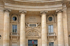 University of Paris. Faculty of Law Building royalty free stock photography