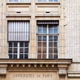 University of paris, france. Building of university of paris, france Royalty Free Stock Image