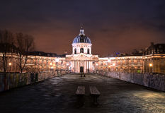University of paris at night Royalty Free Stock Photo