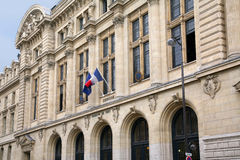 University of Paris, Sorbonne. Central building Stock Photos