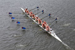 University of Pennsylvania races in the Head of Charles Regatta Stock Photos