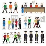 University people avatars Stock Image
